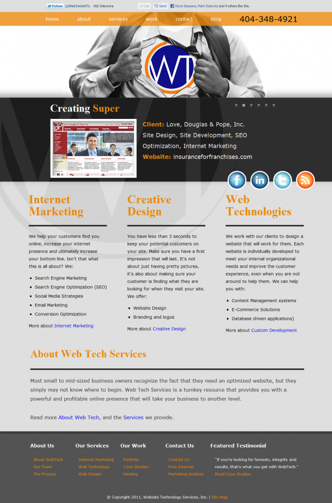 WebTech Services, Inc. new website