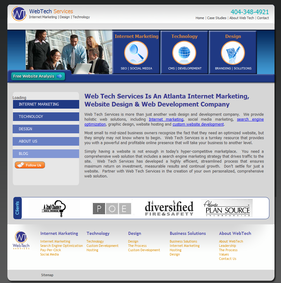 WebTech Services, Inc. Old Website